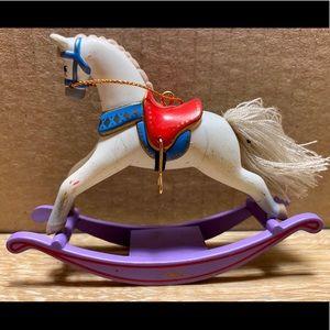 Rare Hallmark Ornament 1987 Rocking Horse No Box